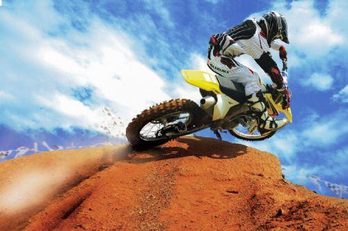 Motocross Extreme Sports  Canvas Framed Wall Art - 36